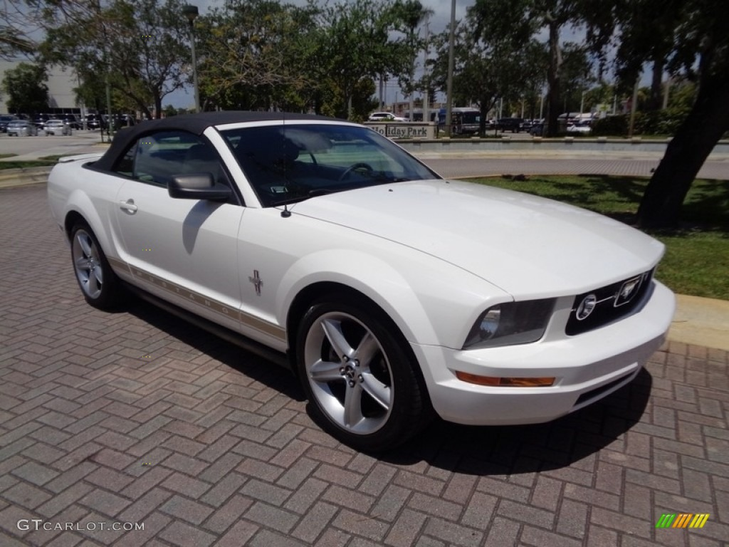 2007 Mustang V6 Premium Convertible - Performance White / Medium Parchment photo #46