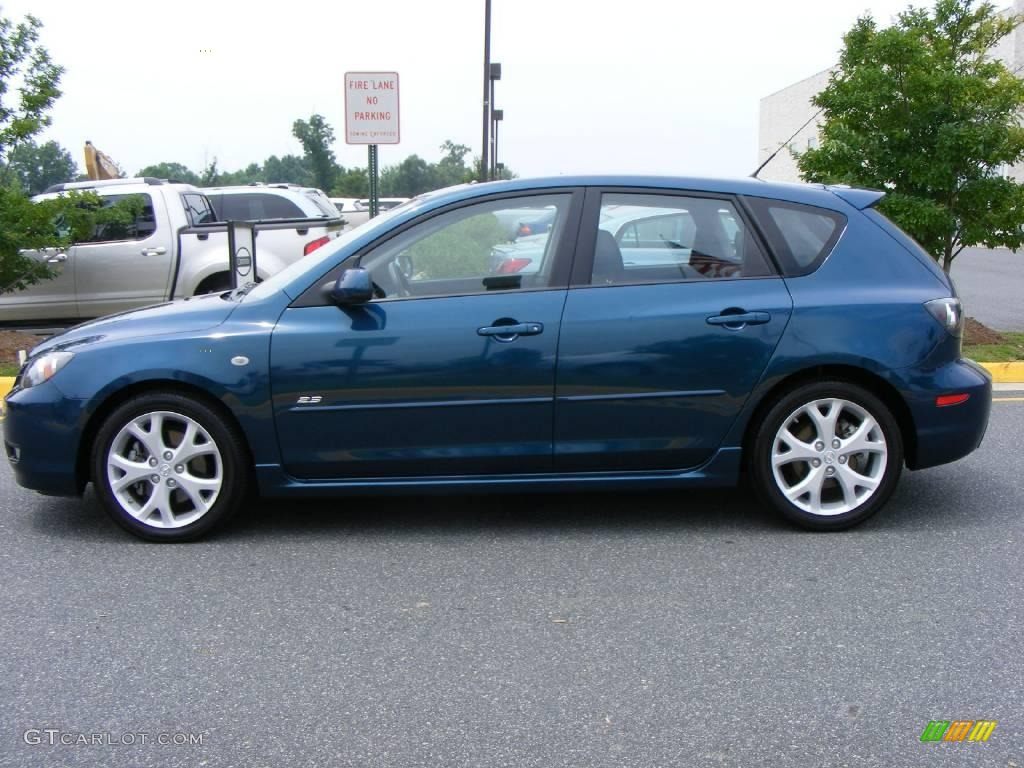 2008 phantom blue mica mazda mazda3 s grand touring hatchback 12727822 photo 23. Black Bedroom Furniture Sets. Home Design Ideas