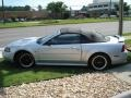 2001 Silver Metallic Ford Mustang GT Convertible  photo #18