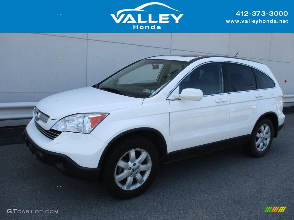 2008 CR-V EX-L 4WD - Taffeta White / Gray photo #1