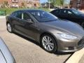 Titanium Metallic 2016 Tesla Model S 90D