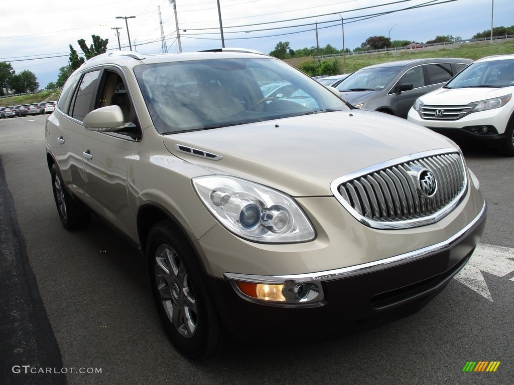 2008 Enclave CXL AWD - Gold Mist Metallic / Cashmere/Cocoa photo #7