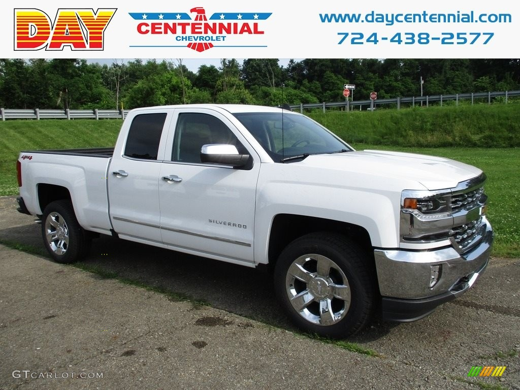 2018 Silverado 1500 LTZ Double Cab 4x4 - Summit White / Jet Black photo #1