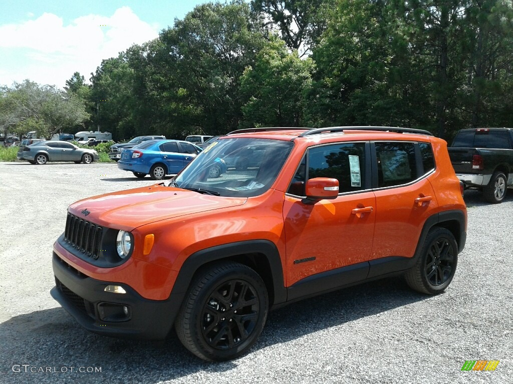 2018 Renegade Altitude - Omaha Orange / Black photo #1