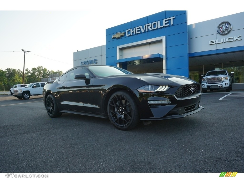 2018 Mustang EcoBoost Fastback - Shadow Black / Ebony photo #1