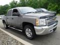 2012 Mocha Steel Metallic Chevrolet Silverado 1500 LT Crew Cab 4x4  photo #7