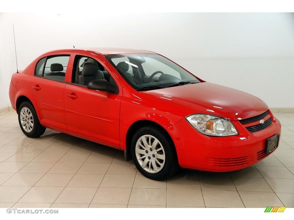 2010 Cobalt LS Sedan - Victory Red / Gray photo #1