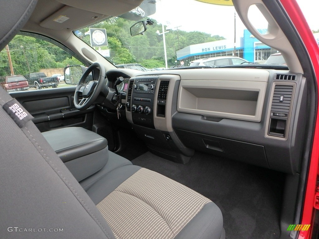2012 Ram 1500 ST Regular Cab 4x4 - Flame Red / Dark Slate Gray/Medium Graystone photo #3