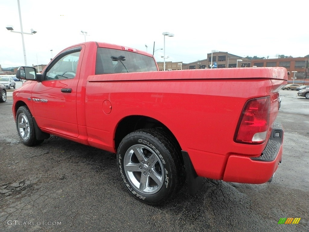 2012 Ram 1500 ST Regular Cab 4x4 - Flame Red / Dark Slate Gray/Medium Graystone photo #8