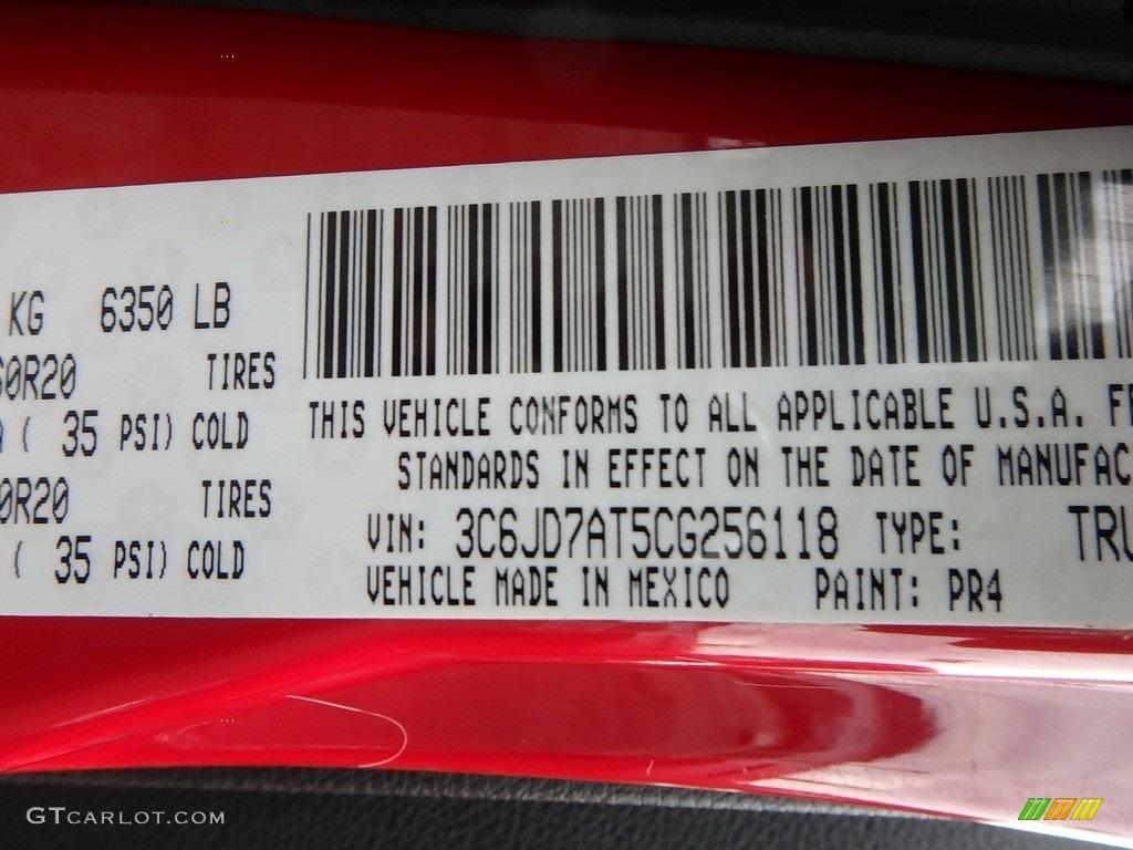 2012 Ram 1500 ST Regular Cab 4x4 - Flame Red / Dark Slate Gray/Medium Graystone photo #16