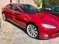 Red Tesla Multi-Coat 2013 Tesla Model S P85 Performance