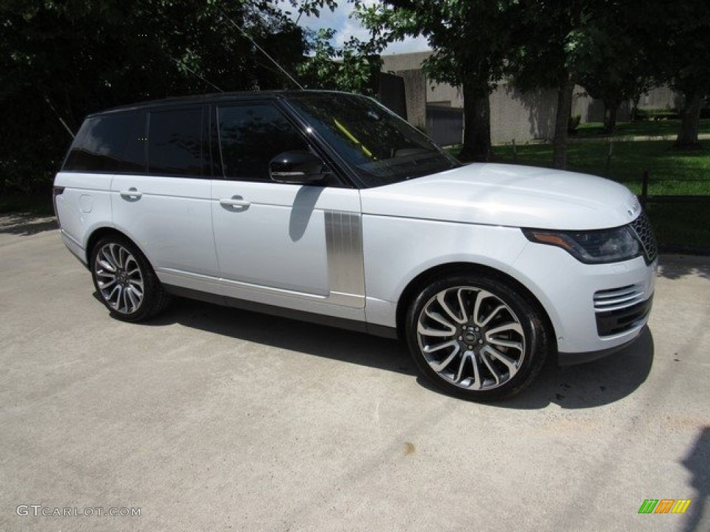 2018 Range Rover Supercharged - Yulong White Metallic / Ebony photo #1