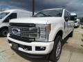 White Platinum Metallic 2018 Ford F250 Super Duty Gallery