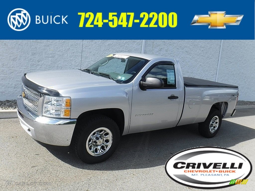 2012 Silverado 1500 LS Regular Cab 4x4 - Silver Ice Metallic / Dark Titanium photo #1