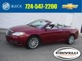 Deep Cherry Red Crystal Pearl Coat 2012 Chrysler 200 Limited Convertible