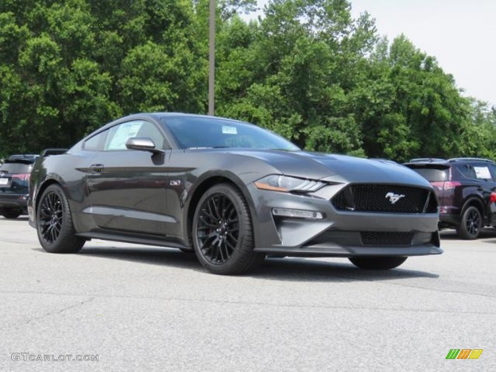 2018 Mustang GT Fastback - Magnetic / Ebony photo #1