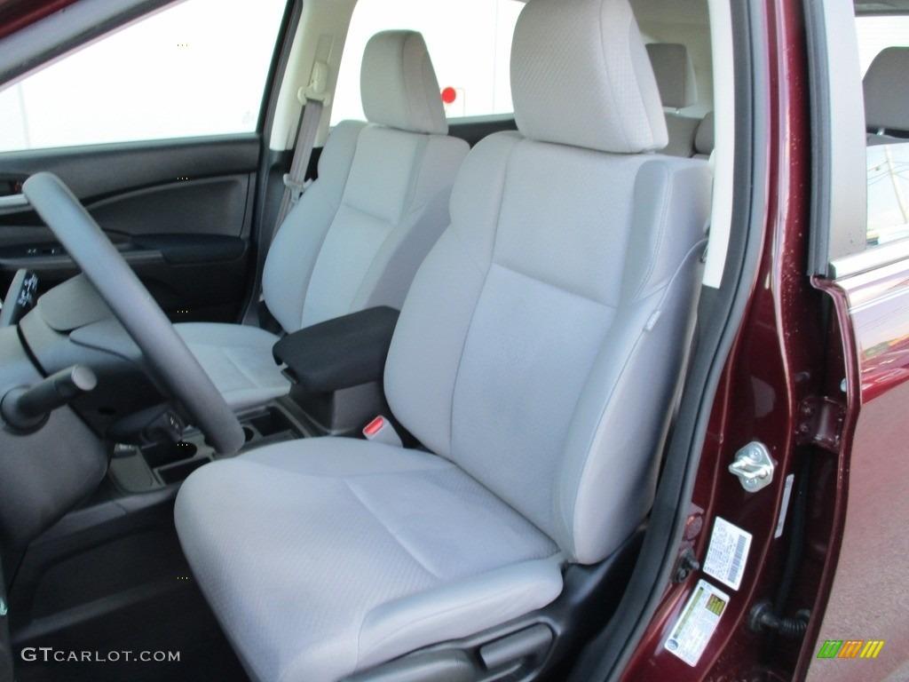 2015 CR-V LX AWD - Basque Red Pearl II / Gray photo #11