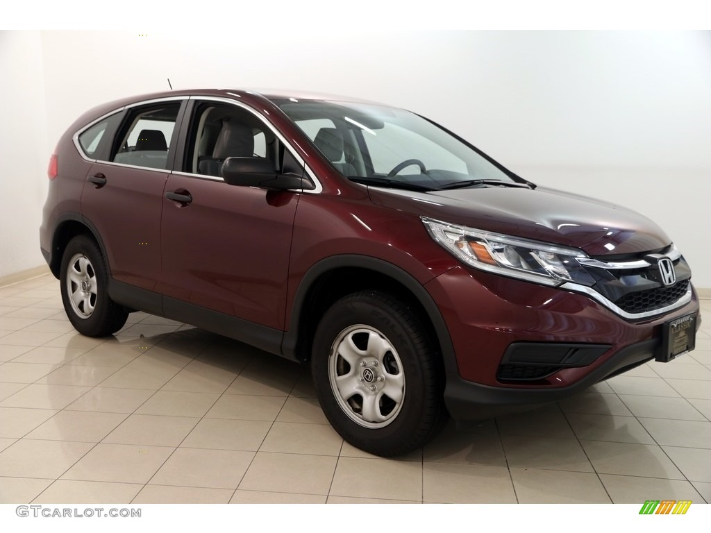2015 CR-V LX AWD - Basque Red Pearl II / Gray photo #1