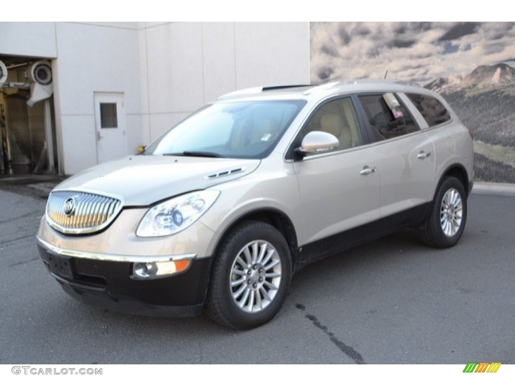 2008 Enclave CXL AWD - Gold Mist Metallic / Cashmere/Cocoa photo #2