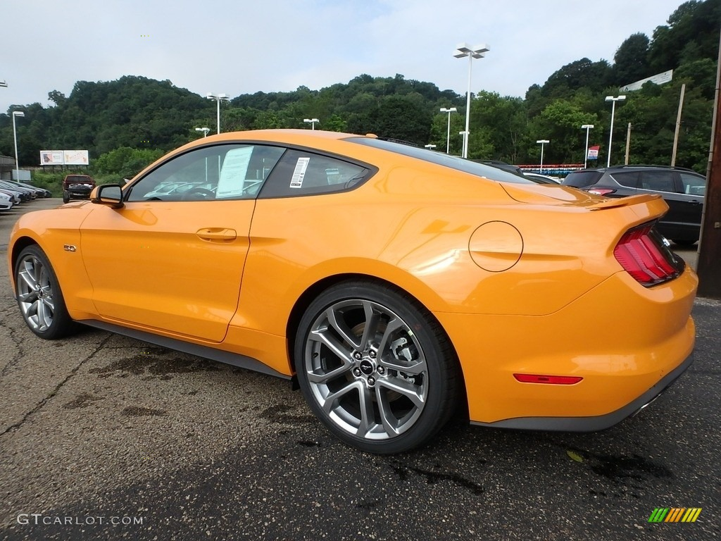 2018 Mustang GT Premium Fastback - Orange Fury / Ebony photo #4