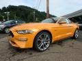 2018 Orange Fury Ford Mustang GT Premium Fastback  photo #6