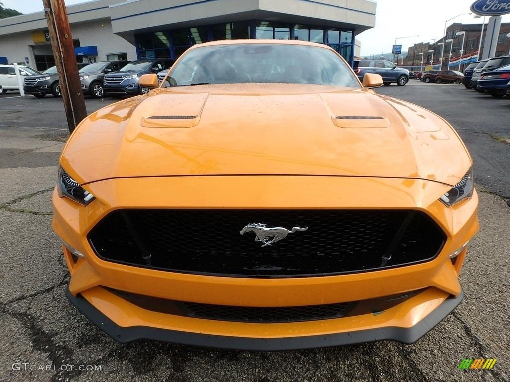 2018 Mustang GT Premium Fastback - Orange Fury / Ebony photo #7