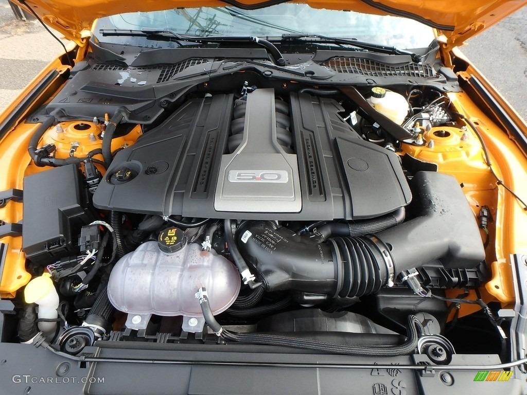 2018 Mustang GT Premium Fastback - Orange Fury / Ebony photo #8