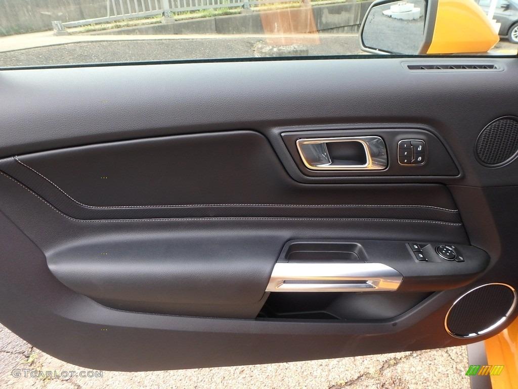 2018 Mustang GT Premium Fastback - Orange Fury / Ebony photo #14