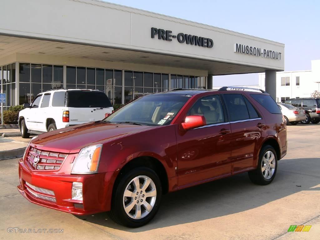 2008 Crystal Red Cadillac Srx V6 12798841 Gtcarlot Com