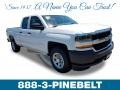 2018 Summit White Chevrolet Silverado 1500 WT Double Cab  photo #1