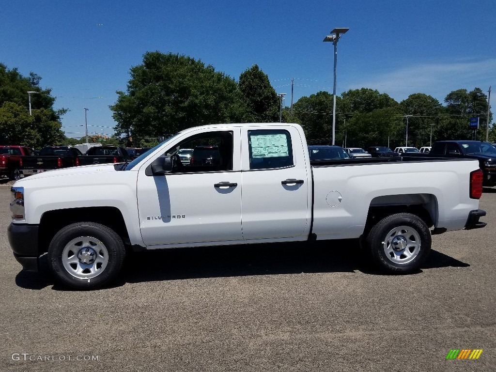 2018 Silverado 1500 WT Double Cab - Summit White / Dark Ash/Jet Black photo #3