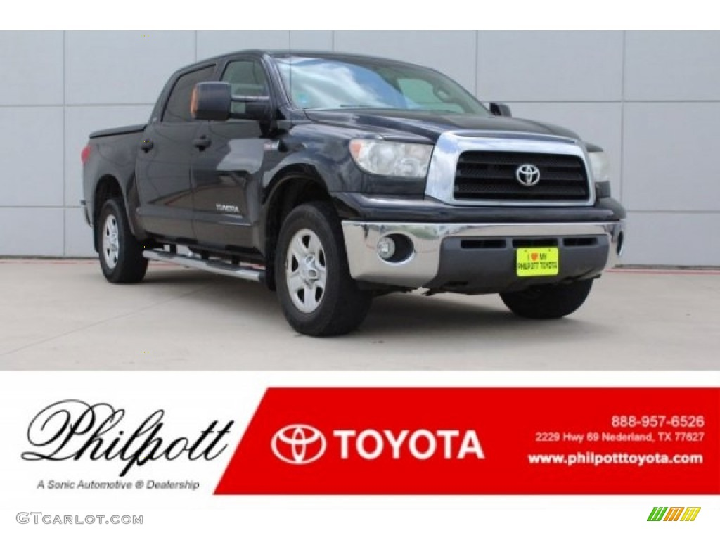 2008 Tundra SR5 CrewMax 4x4 - Black / Beige photo #1