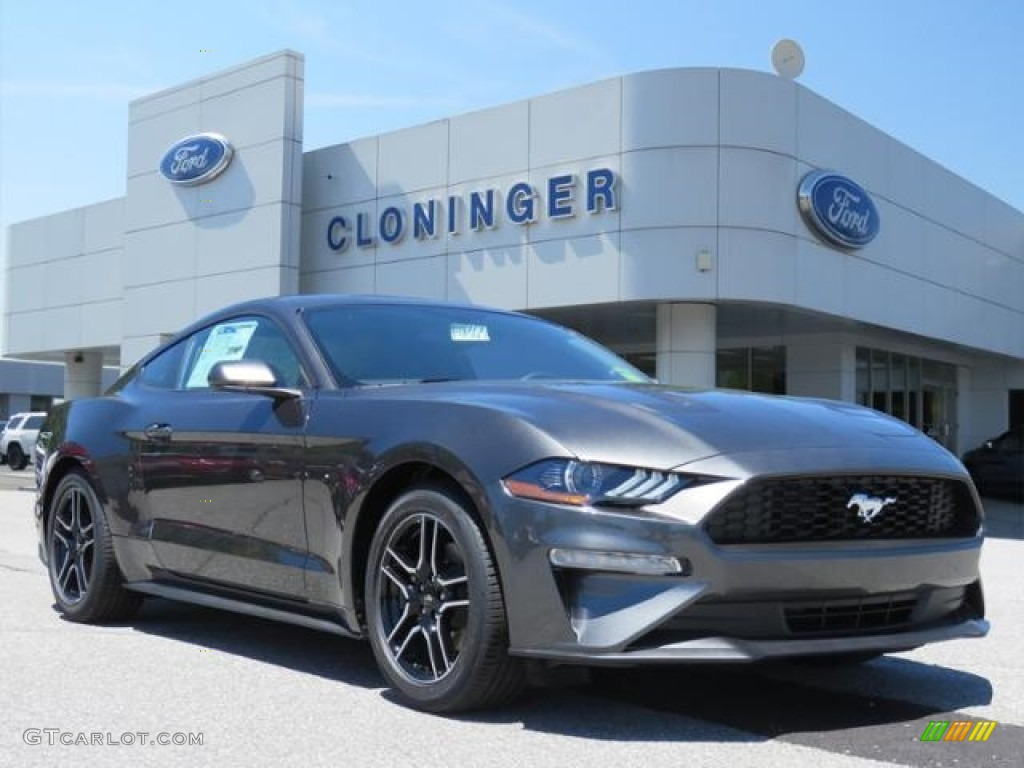 2018 Mustang EcoBoost Fastback - Magnetic / Ebony photo #1