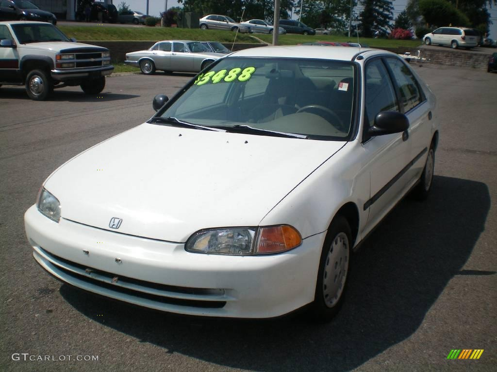1995 frost white honda civic lx sedan 12796279 car color galleries. Black Bedroom Furniture Sets. Home Design Ideas