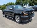 2018 Black Chevrolet Silverado 1500 Custom Double Cab  photo #1