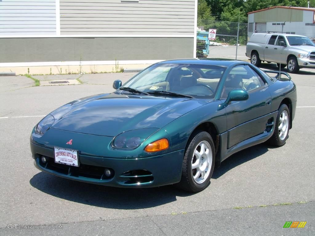 1996 Panama Green Pearl Mitsubishi 3000GT Coupe #12799273 Photo #4 | GTCarLot.com - Car Color ...