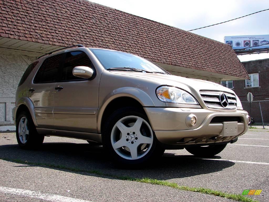 2002 desert silver metallic mercedes benz ml 55 amg 4matic for Mercedes benz ml 2002