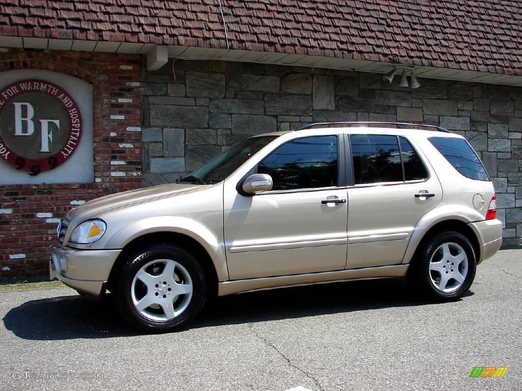 2002 desert silver metallic mercedes benz ml 55 amg 4matic for Mercedes benz ml 55