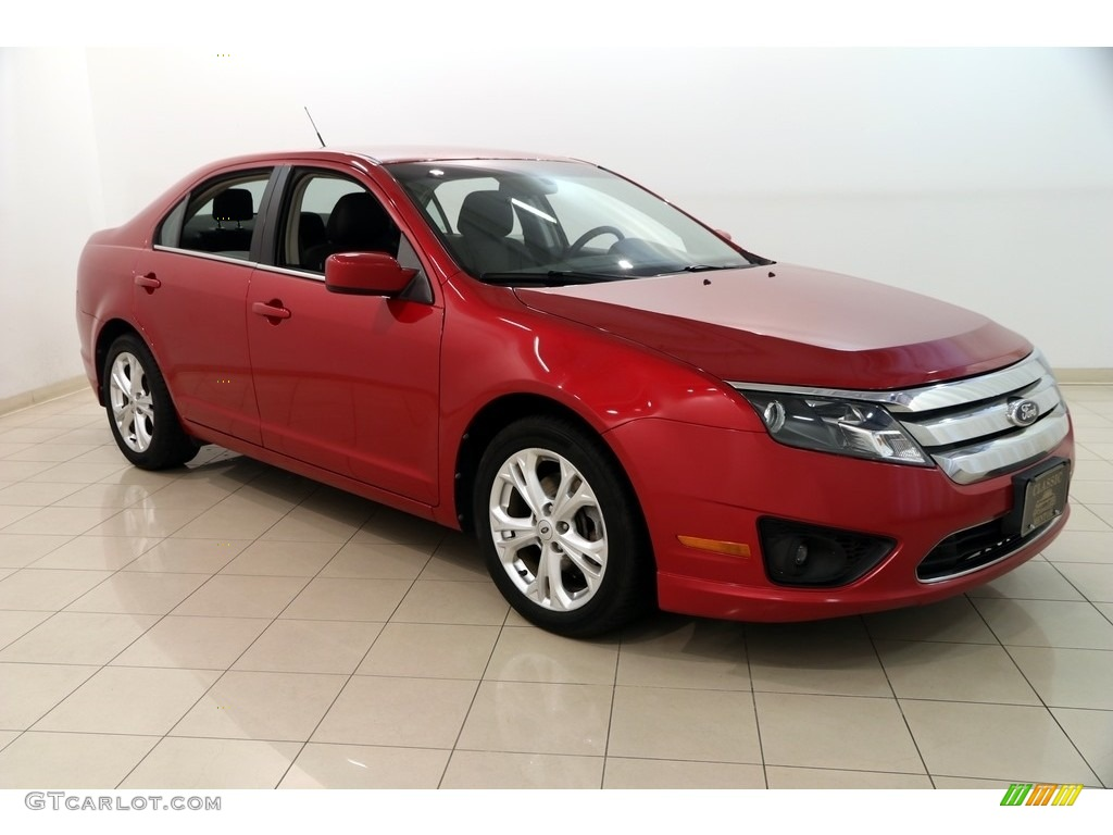2012 Fusion SE - Red Candy Metallic / Charcoal Black photo #1