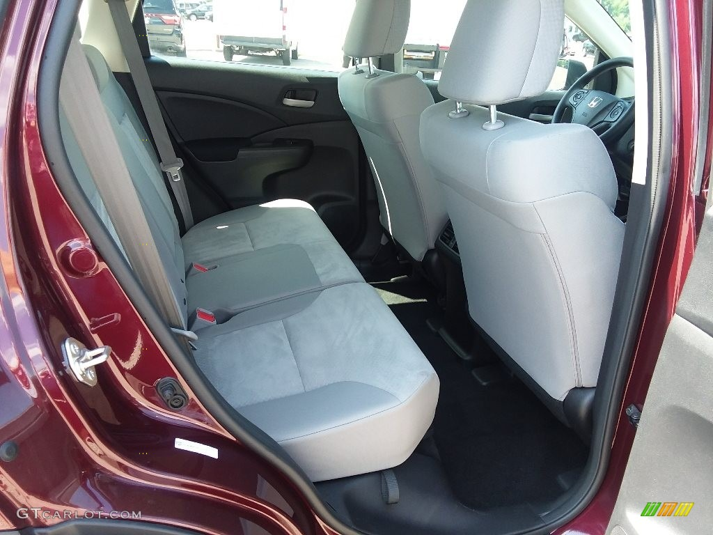 2015 CR-V LX AWD - Basque Red Pearl II / Gray photo #13