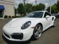 Carrara White Metallic 2015 Porsche 911 Turbo S Coupe