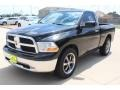 2011 Brilliant Black Crystal Pearl Dodge Ram 1500 SLT Regular Cab  photo #3