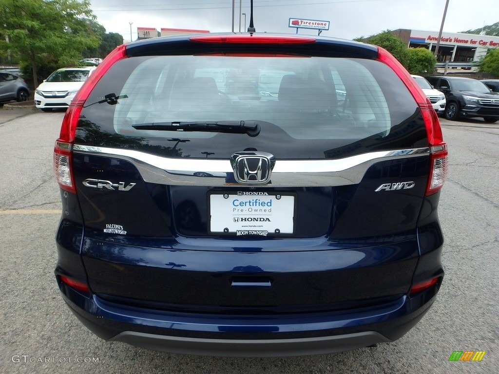 2015 CR-V LX AWD - Obsidian Blue Pearl / Black photo #4