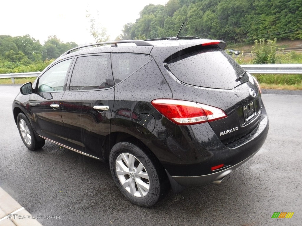 2011 Murano SV AWD - Super Black / Black photo #6
