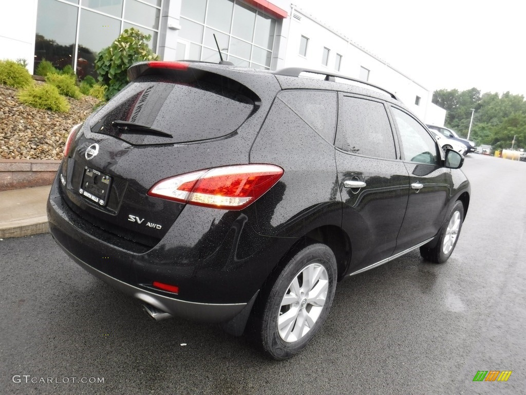 2011 Murano SV AWD - Super Black / Black photo #8