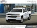 2018 Summit White Chevrolet Silverado 1500 Custom Crew Cab 4x4  photo #1