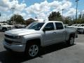 Silver Ice Metallic - Silverado 1500 Custom Crew Cab 4x4 Photo No. 1