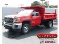 Red - Sierra 3500HD Regular Cab 4WD Dump Truck Photo No. 1