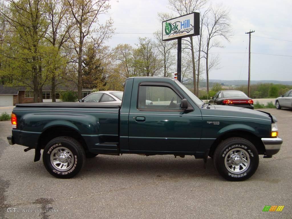 1998 deep emerald green metallic ford ranger xlt regular cab 12861138 car. Black Bedroom Furniture Sets. Home Design Ideas