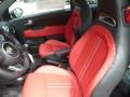 2018 500 Abarth Nero/Rosso (Black/Red) Interior